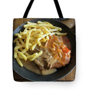 Schnitzel With Two Sauces Tote Bag