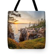 Schoodic Point Sunset Tote Bag
