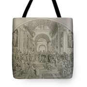 School Of Athens/ Homage To Raphael Tote Bag