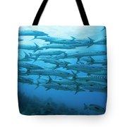 School Of Barracudas Underwater Tote Bag