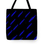 School Of Blue Fish At Night Tote Bag