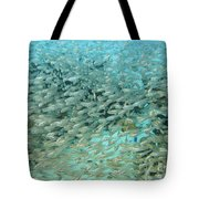 School Of Fish At Kwajalein Atoll Tote Bag