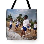 School Trip To Beach IIi Tote Bag