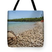 Schoolhouse Beach Washington Island Tote Bag