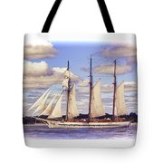 Schooner Mystic Under Sail Tote Bag