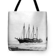Schooner Shipwreck Tote Bag
