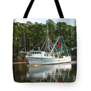 Schrimp Boat On Icw Tote Bag