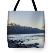 Schuylkill River Sunrise Linfield Pa Tote Bag