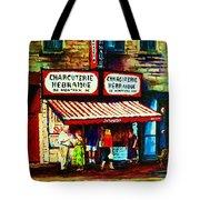 Schwartzs Famous Smoked Meat Tote Bag by Carole Spandau