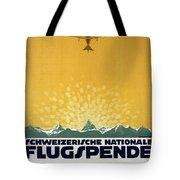 Schweizerische Nationale Flugspende - Flight Donation - Retro Travel Poster - Vintage Poster Tote Bag