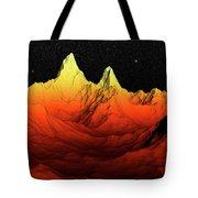 Sci Fi Mountains Landscape Tote Bag