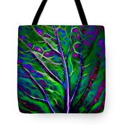 Scintillating Leaf Tote Bag
