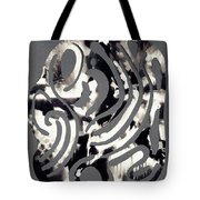 Scissor-cut Abstraction Tote Bag