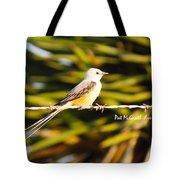 Scissor-tailed Flycatcher Tote Bag
