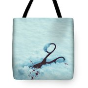 Scissors In Snow  Tote Bag