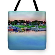 Scituate Harbor At Sunset Tote Bag