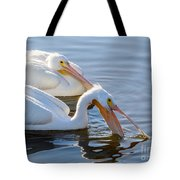 Scooping For Fish Tote Bag