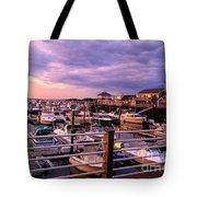 Scooping Marina Views From Ice Cream Shop Tote Bag