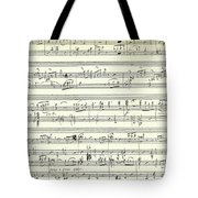 Score For The Opening Of Swan Lake By Tchaikovsky Tote Bag