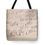 Score Sheet Of Moonlight Sonata Tote Bag