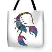 Scorpio Tote Bag by Barbara McConoughey