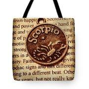 Scorpio Parchment Tote Bag