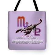 Scorpio Sun Sign Tote Bag