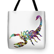 Scorpion-colorful Tote Bag
