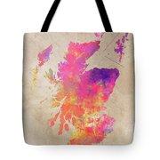 Scotland Map Tote Bag
