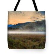 Scotland Mist In Widescape Tote Bag