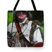 Scottish Soldier Of The Sealed Knot At The Ruthin Seige Re-enactment Tote Bag