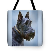 Scottish Terrier Dog Tote Bag by Jennie Marie Schell