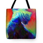 Scottish Terrier Dog Painting Tote Bag