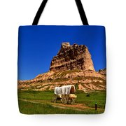 Scotts Bluff Large Panorama Tote Bag