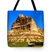 Scotts Bluff National Monument Panorama Tote Bag