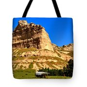 Scotts Bluff National Panoramic Landscape Tote Bag