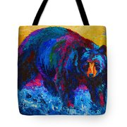 Scouting For Fish - Black Bear Tote Bag