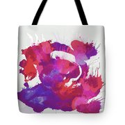 Scrambled Sunrise 2017 - Pink And Purple On White Tote Bag