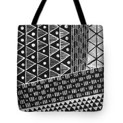 Scratchboard Kapa Pattern 1 Tote Bag