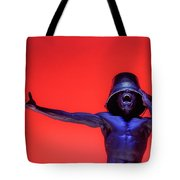 Screaming Dancer On Red Tote Bag