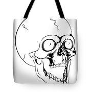 Screaming Skull Tote Bag