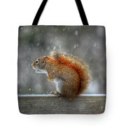 Screaming Squirrel  Tote Bag