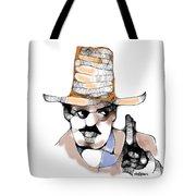 Scribbler Cowboy Tote Bag