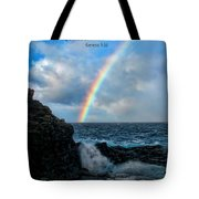 Scripture And Picture Genesis 9 16 Tote Bag by Ken Smith