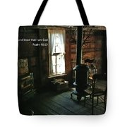 Scripture And Picture Psalm 46 10 Tote Bag