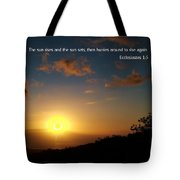 Scriture And Picture Ephesians 1 5 Tote Bag
