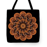Scroll Flower Tote Bag