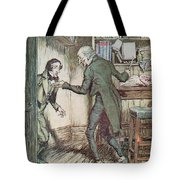Scrooge And Bob Cratchit Tote Bag