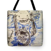 Scuba Diving With Sharks Tote Bag