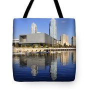 Sculling By The Tampa Bay Art Center Tote Bag